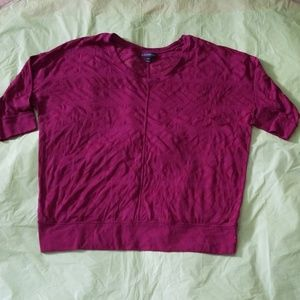 LANE BRYANT wine red knit top